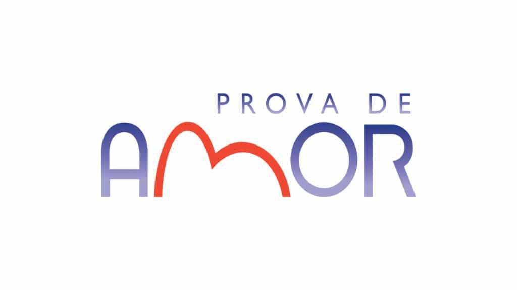 Imagem com o logotipo da novela Prova de Amor, da Record