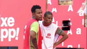 Nego Di e Lucas Penteado vencem primeira prova de imunidade (foto: Reprodução/Globo)