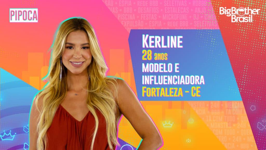 Kerline é modelo e influenciadora (foto: Globo/Divulgação)