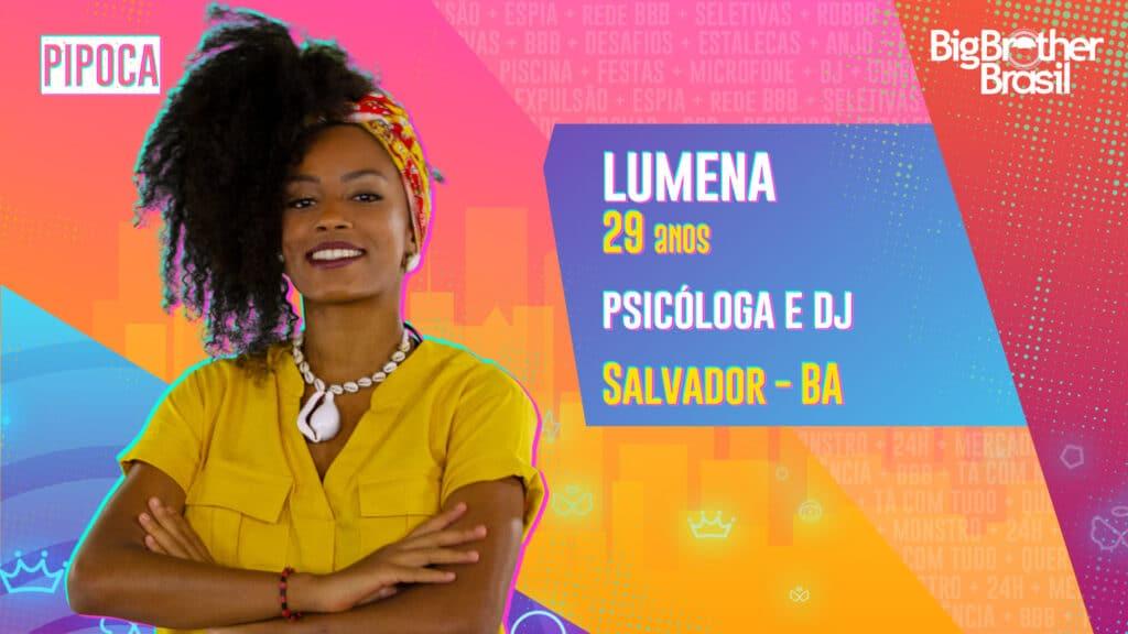 Lumena é psicóloga e DJ (foto: Globo/Divulgação)
