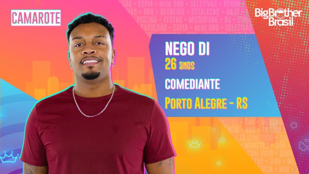 Nego Di é comediante (foto: Globo/Divulgação)