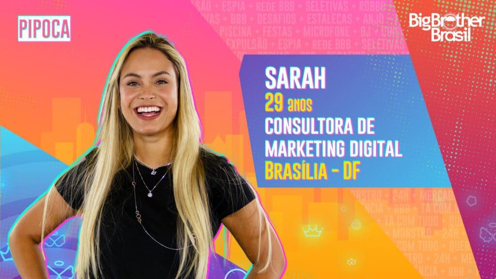 Sarah é consultora em marketing digital (foto: Globo/Divulgação)