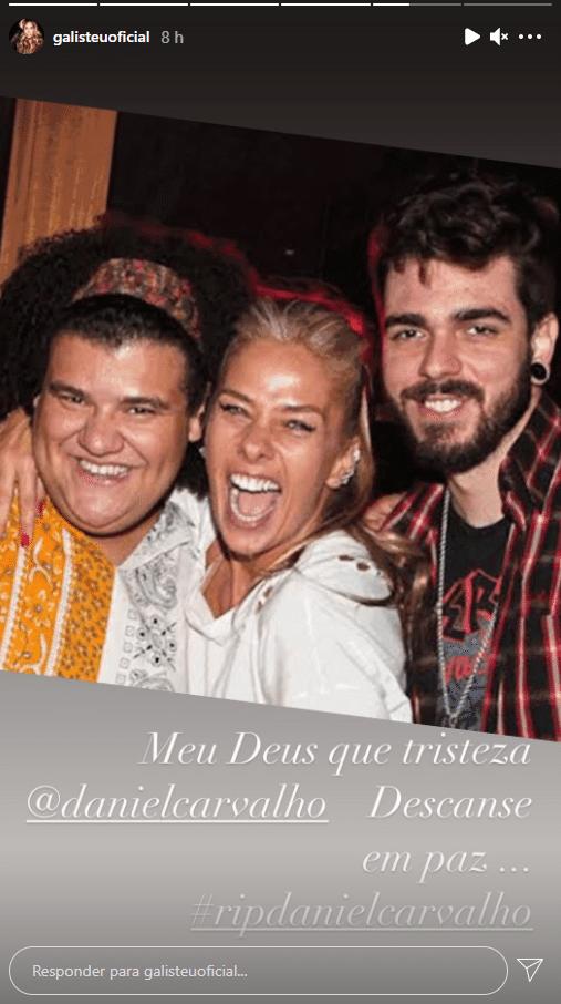 Adriane Galisteu lamentou a morte do ex-colega de trabalho (foto: Reprodução)