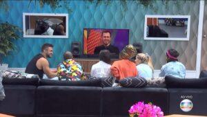 Seis participantes já foram imunizados no BBB21; programa tem transmissão 24h no Globoplay (foto: Reprodução/TV Globo)