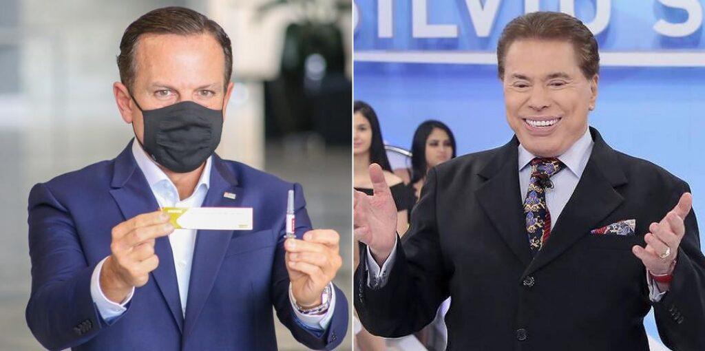 Silvio Santos confirmou que irá tomar a vacina de João Doria (foto: Montagem/Divulgação)