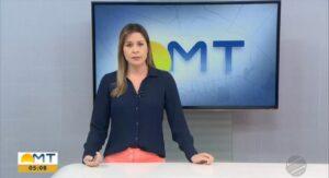 Kátia Krüger é atual apresentadora do Bom Dia Mato Grosso (foto: Reprodução/TV Globo)