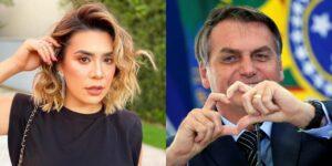 Naiara Azevedo negou ser aliada de Jair Bolsonaro (foto: Montagem/Redes Sociais)