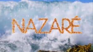 Imagem com o logotipo da novela Nazaré, da Band
