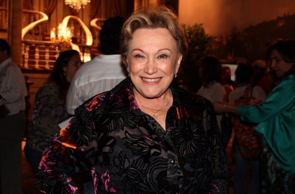 Nicette Bruno morreu aos 87 anos vítima de complicações causadas pela covid-19 (foto: Nathalia Fernandes/TV Globo)
