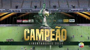 Palmeiras foi o campeão da Libertadores 2020 (foto: Reprodução/SBT)