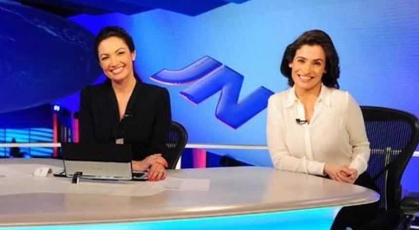 Renata Vasconcellos foi confundida com Patrícia Poeta em boletim do Jornal Nacional (foto: Reprodução/TV Globo)