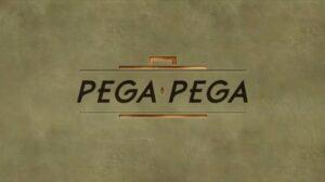 Imagem com o logotipo da novela Pega Pega, da Globo