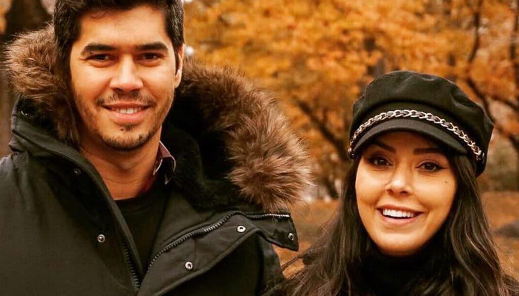 A influenciadora Rica de Marré posa ao lado de seu marido, Abrão Meron (foto: Reprodução/Redes Sociais)
