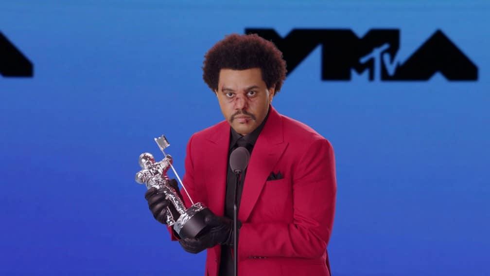 The Weeknd na premiação do VMA de 2020 (foto: Divulgação/MTV)