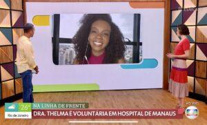 A ex-BBB Thelma é o mais novo reforço do time do Bem Estar (foto: Reprodução/TV Globo)