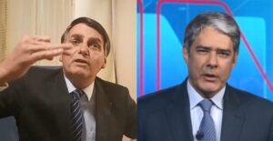 Jair Bolsonaro afirmou que a Globo mente no Jornal Nacional (foto: Montagem/Facebook/TV Globo)