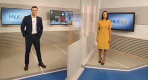 Evandro Harenza e Carol Mafra apresentam o Meio-Dia Paraná em Ponta Grossa (foto: Divulgação/TV Globo)