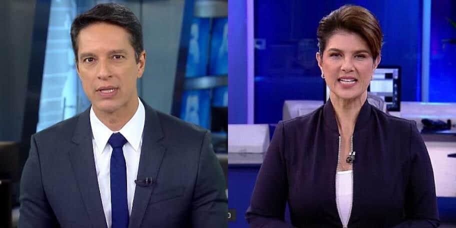 Sérgio Aguiar dividirá a bancada do Fala Brasil com Mariana Godoy (foto: Montagem)