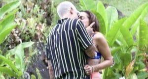 Anitta e Lipe Ribeiro ficaram nas gravações de Ilhados com Beats (foto: Reprodução)