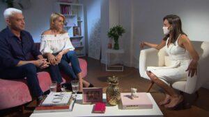 Alexandre Correa, Ana Hickmann e a repórter Fabiana Oliveira (foto: Record/Divulgação)