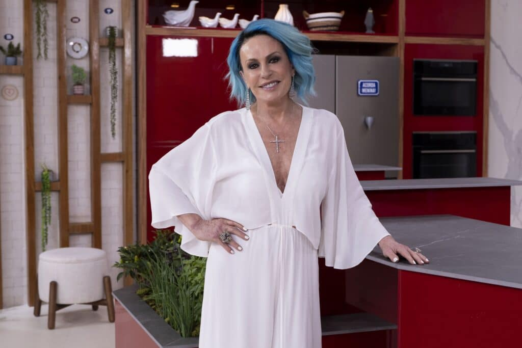 Ana Maria Braga no novo cenário do Mais Você na Globo São Paulo (foto: Globo/Mauricio Fidalgo)