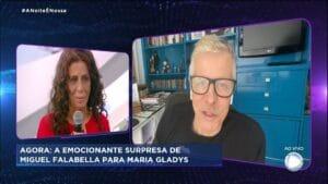 Miguel Falabella participou do programa de Geraldo Luís (foto: Reprodução/Record)