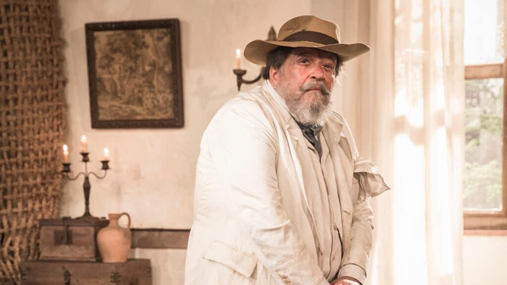 Luís Melo foi substituído pelo ator Ernando Moraes em Nos Tempos do Imperador (foto: Globo/João Miguel Júnior)
