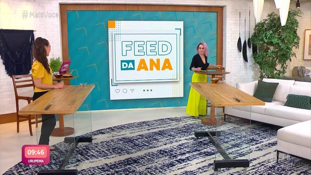 Ana Maria Braga teve crise de tosse após assistente falar palavrão ao vivo no Mais Você (foto: Reprodução/Globo)