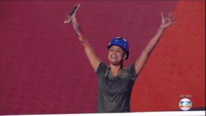 Sarah vence prova do líder (foto: Reprodução/Globo)