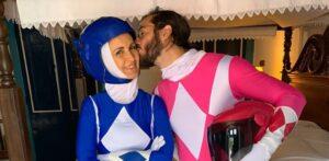 Fátima Bernardes e Túlio Gadelha já homenagearam os Power Rangers no Carnaval (foto: Reprodução/Redes Sociais)