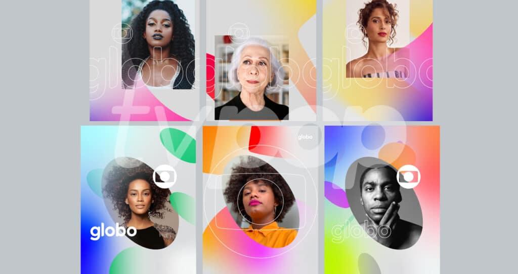 Nova identidade visual da Globo em campanhas impressas (foto: Reprodução/TV Globo)