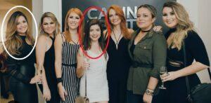 Juliette, no círculo branco, e GKay, no círculo vermelho, em evento de 2016 (foto: Reprodução/Instagram)