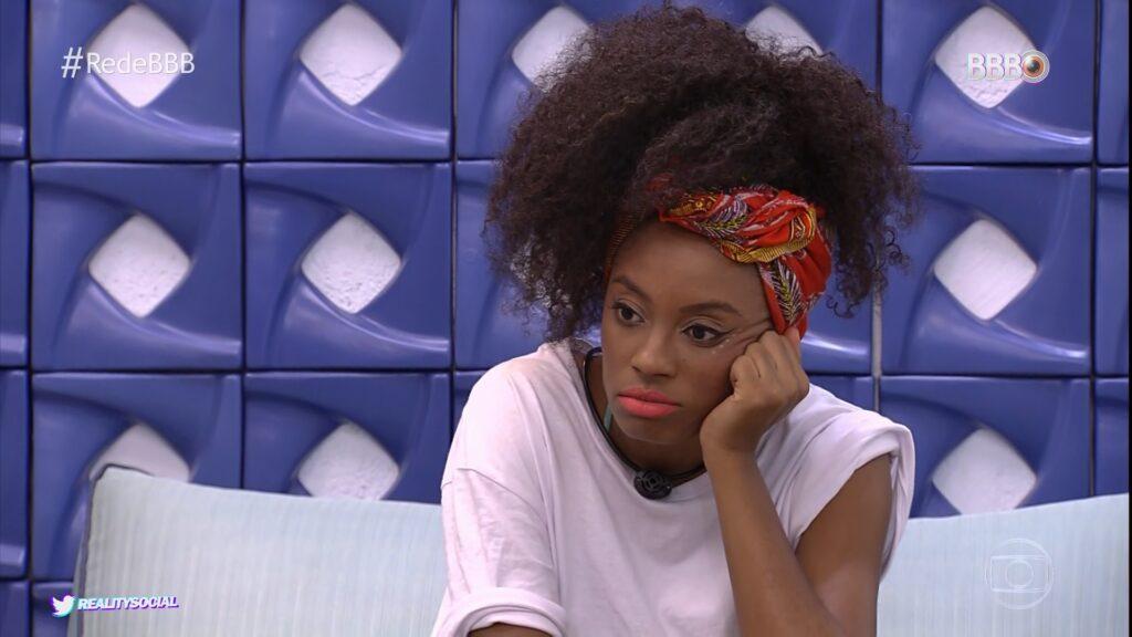 Lumena Aleluia na edição de 25 de fevereiro do BBB: pior quinta da história (foto: Reprodução/TV Globo)