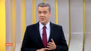 Roberto Kovalick na edição de 15 de fevereiro do Hora 1: o jornalista sumiu do noticiário matinal desde então (foto: Reprodução/TV Globo)