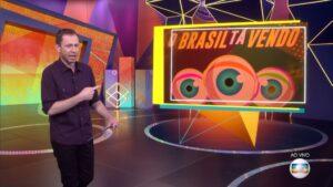 Tiago Leifert na edição de 23 de fevereiro do BBB: mais um dia, mais um recorde de audiência (foto: Reprodução/TV Globo)