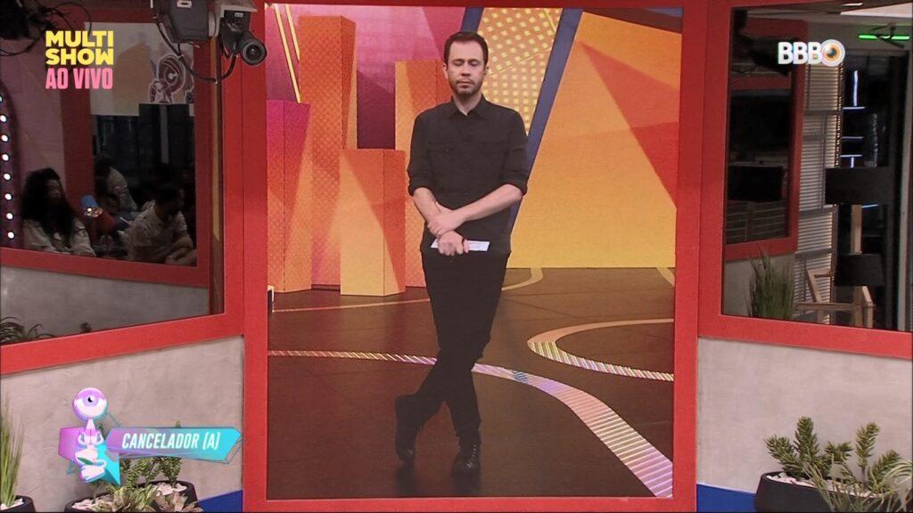 Tiago Leifert no jogo da discórdia do BBB21: fenômeno no Multishow (foto: Reprodução/TV Globo)