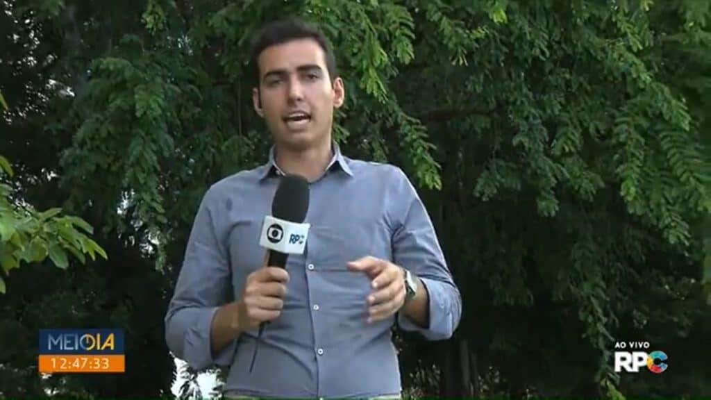 Vinícius Buganza deixou a Globo para ser apresentador do Cidade Alerta na Record (foto: Reprodução/RPC)