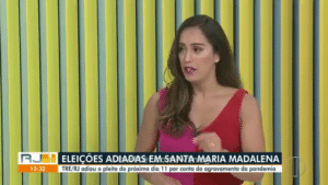 Ana Paula Mendes passa mal durante o RJ1 da InterTV (foto: Reprodução/TV Globo)