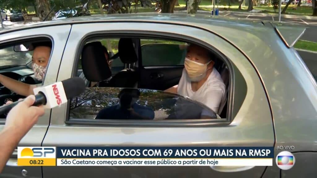 Idoso que criticava Bolsonaro é impedido de falar na Globo (foto: Reprodução)