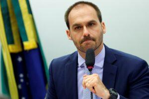 Eduardo Bolsonaro critica Maju por defender o lockdown (foto: Reprodução/Reuters)