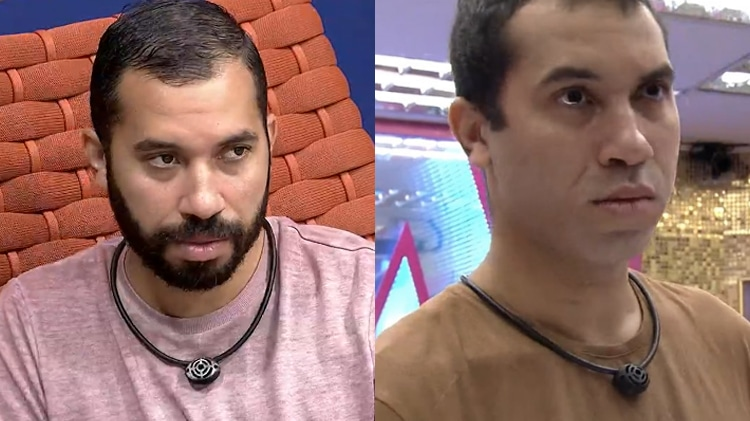 Antes e depois de Gilberto; ela mudou de visual após eliminação de Sarah (foto: Reprodução/Globo)