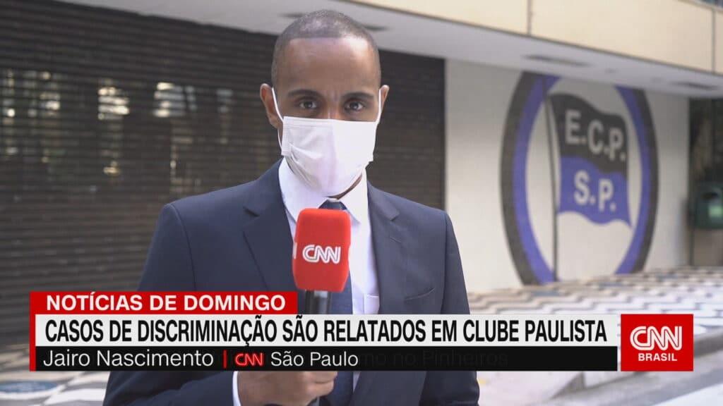 Jairo Nascimento foi alvo de racismo pela diretoria do Clube Pinheiros em São Paulo (foto: Reprodução/CNN Brasil)