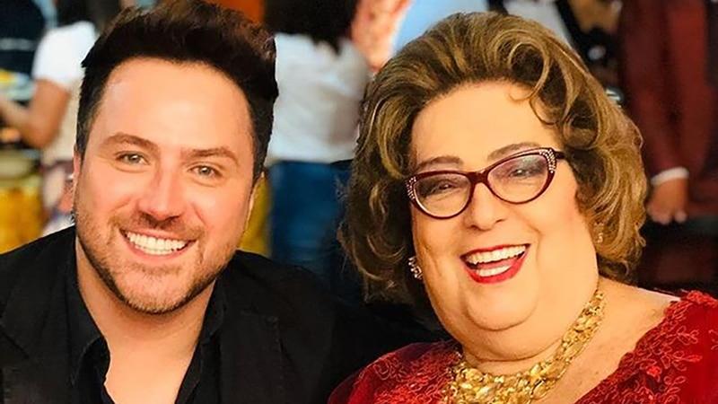 Kleber Lopes e Mamma Bruschetta; ator morreu aos 39 anos vítima da covid-19 (foto: Reprodução/Instagram)