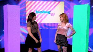 Fernanda Pineda e Mari Ayrez fazem homenagem para a MTV Brasil (foto: Reprodução/Loading)