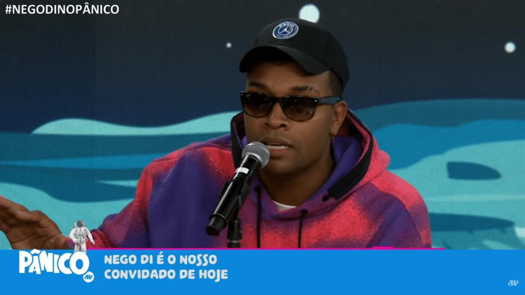 Nego Di rompe contrato com a Globo e passa a dar entrevistas para outros veículos (foto: Reprodução/Jovem Pan)