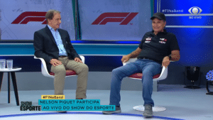 """Nelson Piquet chama a Globo de """"lixo"""" no Show do Esporte da Band (foto: Reprodução)"""