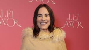 Regina Duarte na época da festa de lançamento da novela A Lei do Amor (foto: Globo/Marcos Rosa)
