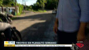 Equipe da TV Gazeta, afiliada da Globo no ES, é ameaçada por bandidos (foto: Reprodução/TV Gazeta)