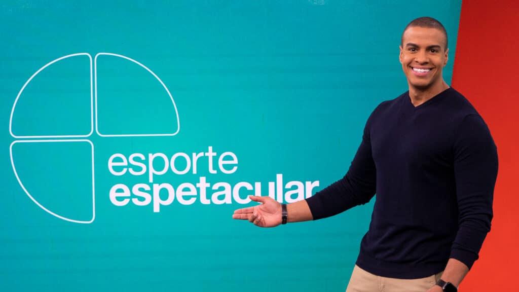 Thiago Oliveira apresenta as notícias locais do esporte em São Paulo (foto: Globo/Maurício Fidalgo)