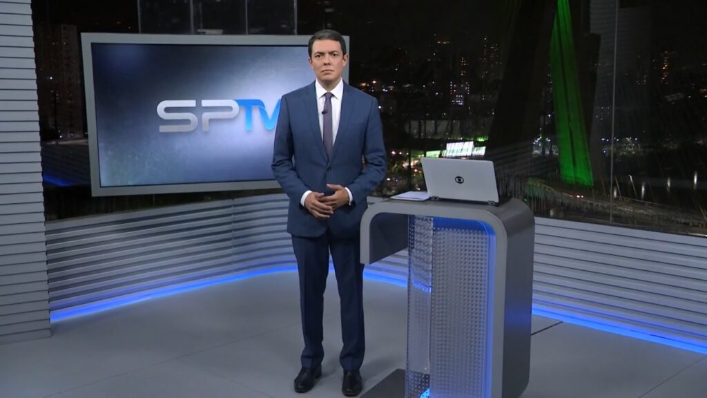 Alan Severiano no SP2 de 18 de março: telejornal teve maior audiência de 2021 (foto: Reprodução/TV Globo)